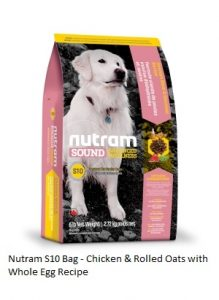 Nutram S10 Chicken & Rolled Oats with Whole Egg Recipe