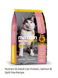 Nutram S5 Adult Cat Chicken, Salmon & Split Pea Recipe