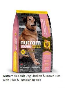 Nutram S6 Adult Dog Chicken & Brown Rice with Peas & Pumpkin Recipe