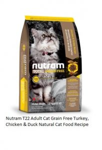 Nutram T22 Adult Cat Grain Free Turkey, Chicken & Duck Natural Cat Food Recipe