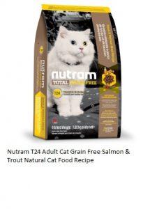Nutram T24 Adult Cat Grain Free Salmon & Trout Natural Cat Food Recipe