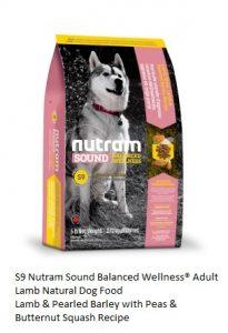 S9 Nutram Sound Balanced Wellness® Adult Lamb Natural Dog Food
